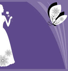 ultraviolet background with victorian lady vector image