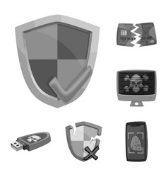 virus and secure icon vector image