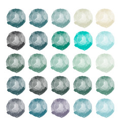 watercolors blue gray green purple blobs vector image