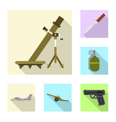 weapon and gun icon vector image