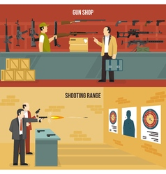 Weapons Guns Banners vector image