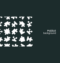 White details puzzle on black background vector