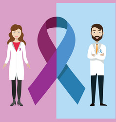 world cancer day concept february 4 male female vector image