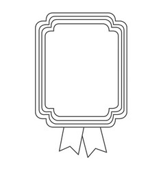 figure square emblem with ribbon icon vector image vector image