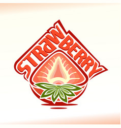 half strawberry vector image