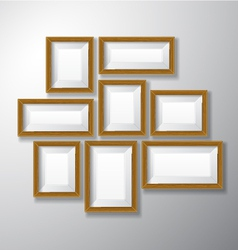 Picture Frames Wooden Variety vector image vector image