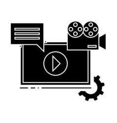 video marketing icon sign o vector image