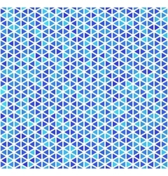 Blue triangles on white abstract seamless pattern vector image vector image