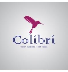 Colibri text background vector