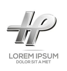 letter h element logo icon vector image