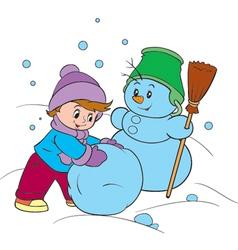 winter fun vector image vector image