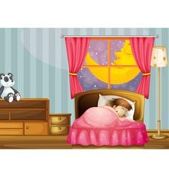 A sleeping girl vector image vector image
