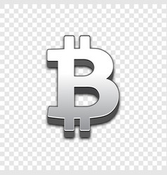 Bitcoin trendy 3d style icon vector