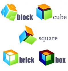 cube elements vector image