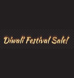 diwali festival sale text banner vector image