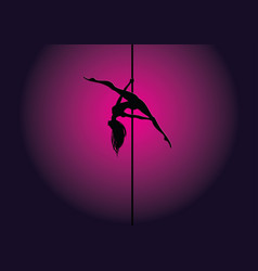pole dance kim position vector image