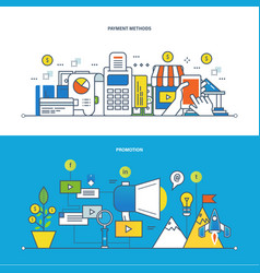 finance payments methods promotion technology vector image vector image