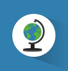 globe world travel icon vector image