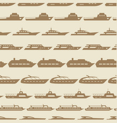 ships and boats vintage seamless pattern vector image vector image