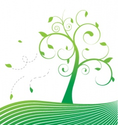 stylized tree vector image