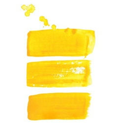 Yellow ink brush strokes vector image vector image