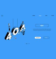 404 error - line design style isometric web banner vector