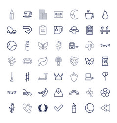 49 green icons vector