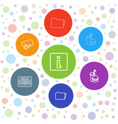 7 info icons vector