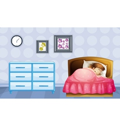 A girl sleeping vector image