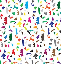 Abstract seamless pattern of color scatter pieces vector image