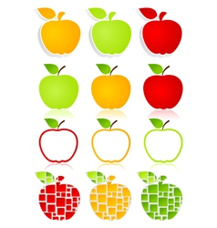 Apples icons vector