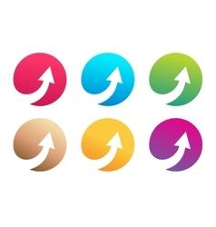 Arrow icon logo template vector