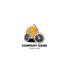 bicycle logo icon template vector image