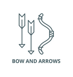 bow and arrows line icon linear concept vector image