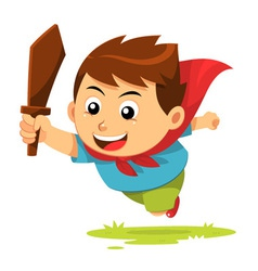 Boy In Action vector image