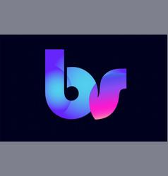 Bs b s spink blue gradient alphabet letter vector