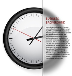 Business background clock vector