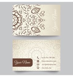 Business card template abstract geometric pattern vector