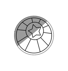 Circus ball star vector