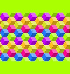 colorful abstract polygon background seamless vector image