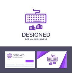 creative business card and logo template keyboard vector image