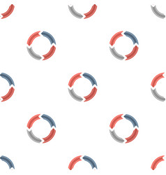 creative circles with arrows the seamless pattern vector image