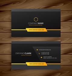 Dark black business card vector