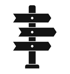 Direction tower icon simple style vector