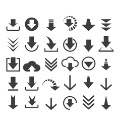 Download file icons vector image