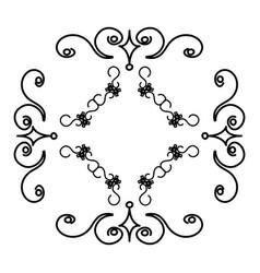 Elegant victorian style frame vector