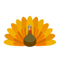 farm turkey icon flat style vector image