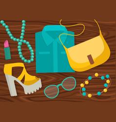 Fashion accessories composition vector