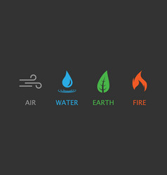 Four elements symbol flat vector