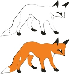 Fox silhouette 01 vector